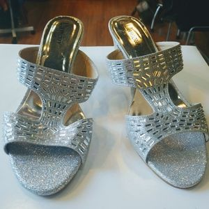L'Amour shimmery heels